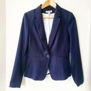 H&M Womens Professional Navy Blue Blazer